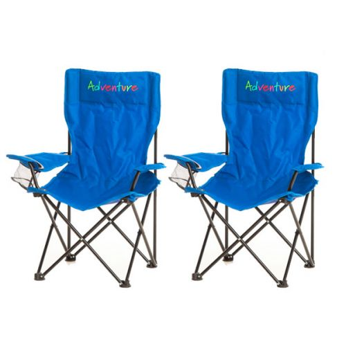 2x Adventure Kids Camping Chair