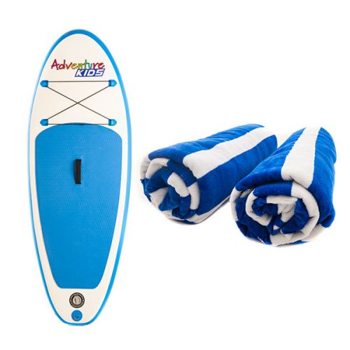 Kids Inflatable Stand-Up Paddle Board + Adventure Kings Beach Towel