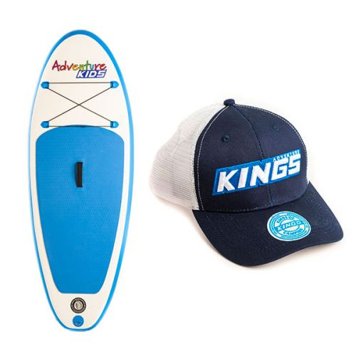 Kids Inflatable Stand-Up Paddle Board + Adventure Kings Trucker's Hat