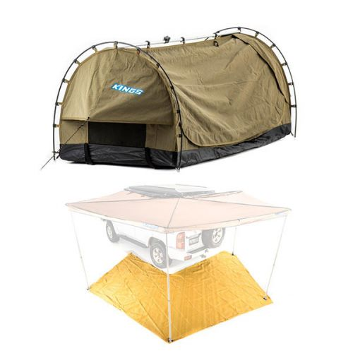 Kings Deluxe Escape Single Swag + King Wing Mesh Floor