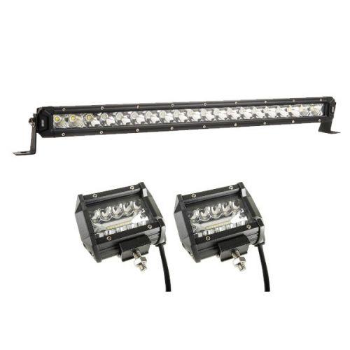 """Kings 20"""" Slim Line LED Light Bar + Adventure Kings 4"""" LED Light Bar"""