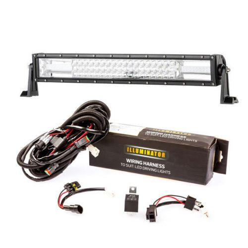 "Kings 22"" Deluxe Lightbar + Bar Wiring Harness"