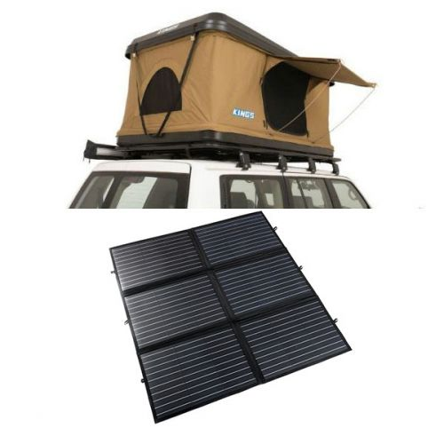 Kings Kwiky MKII Hard Shell Rooftop Tent + 200W Portable Solar Blanket