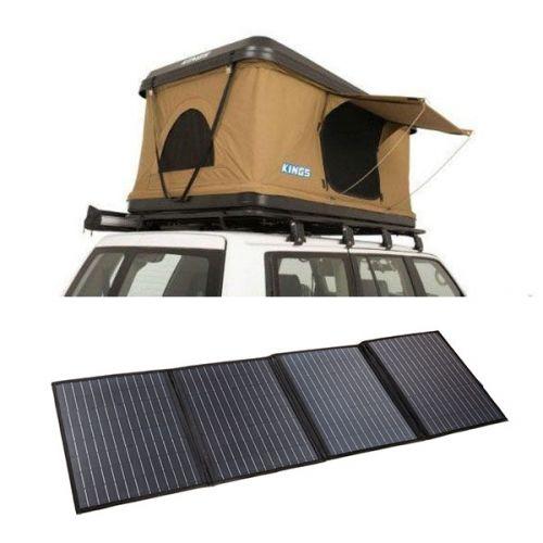 Kings Kwiky MKII Hard Shell Rooftop Tent + 120W Portable Solar Blanket