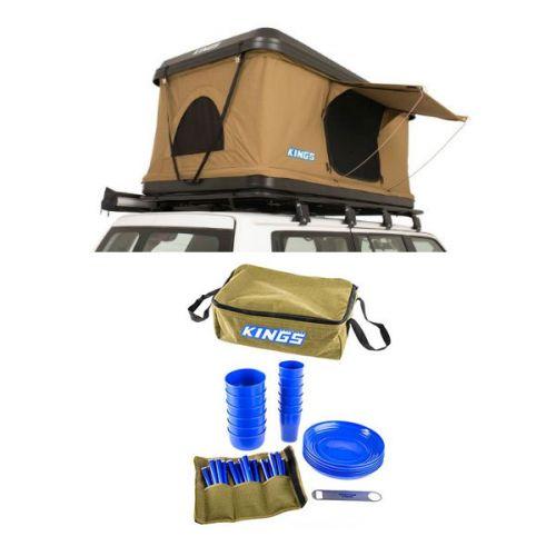 Kings Kwiky MKII Hard Shell Rooftop Tent + 37 Piece Picnic Set