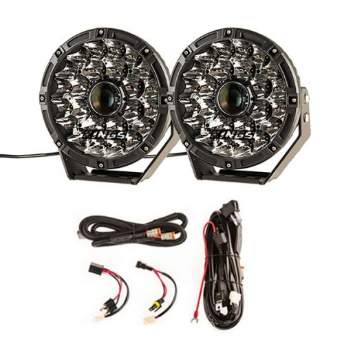 "Adventure Kings 8.5"" Laser Driving Lights + Smart Harness"