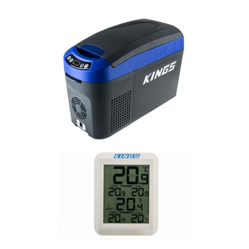 Adventure Kings 15L Centre Console Fridge/Freezer + Wireless Fridge Thermometer