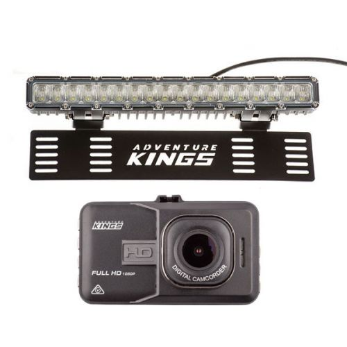 "Dash Camera + Kings 15"" Numberplate LED Light Bar"