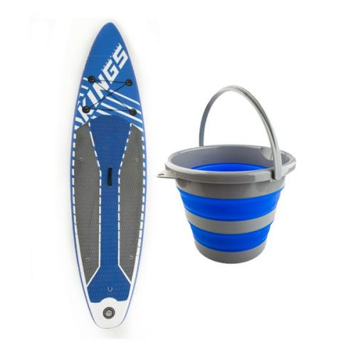Adventure Kings Inflatable Stand-Up Paddle Board + Collapsible 10L Bucket