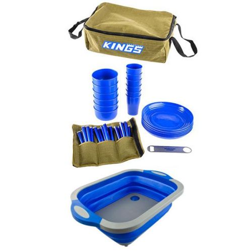 Adventure Kings 37 Piece Picnic Set + Collapsible Sink