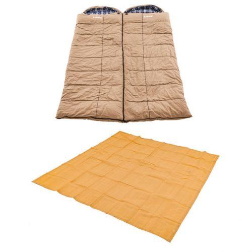 2x Adventure Kings Premium Sleeping bag -5°C to 5°C Degrees Celsius - Left and Right Zipper + Mesh Flooring 3m x 3m