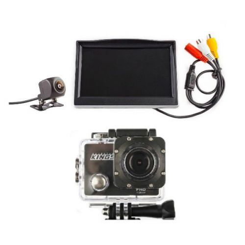 """Adventure Kings Reverse Camera Kit with 5"""" Screen + Action Camera"""