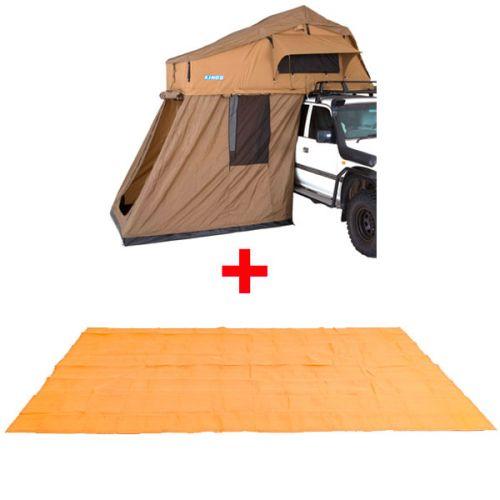 Adventure Kings Roof Top Tent + 4-man Annex + Mesh Flooring 6m x 3m