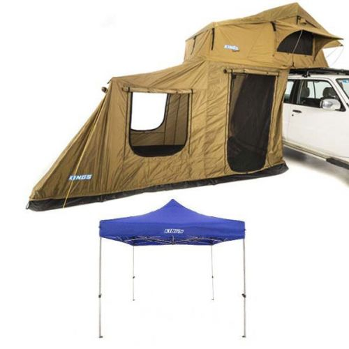 Adventure Kings Roof Top Tent + 6-man Annex + Gazebo 3m x 3m