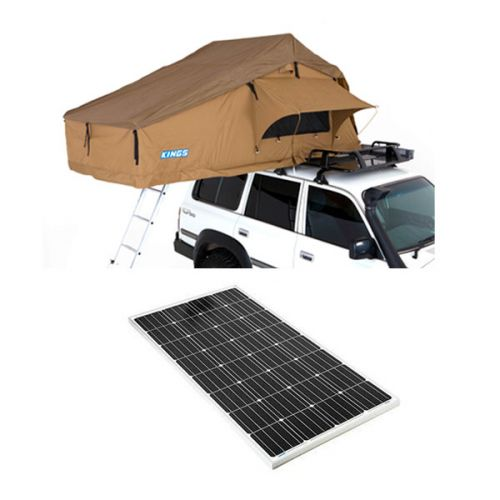 Adventure Kings Roof Top Tent + 160w Fixed Solar Panel
