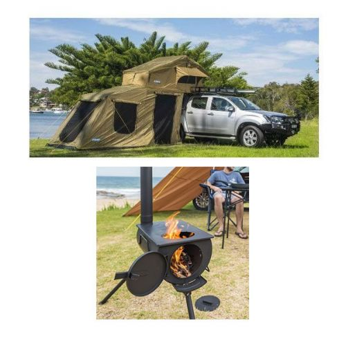 Adventure Kings Roof Top Tent + 6-man Annex + Camp Oven/Stove