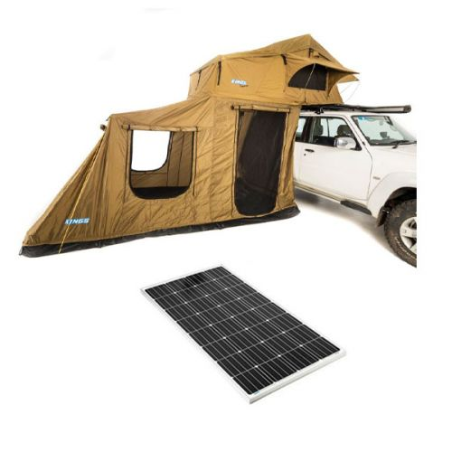 Adventure Kings Roof Top Tent + 6-man Annex + 160w Fixed Solar Panel