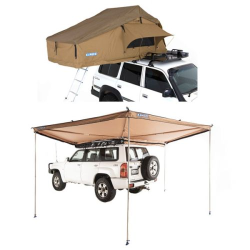 Adventure Kings Roof Top Tent + 270° King Wing Awning