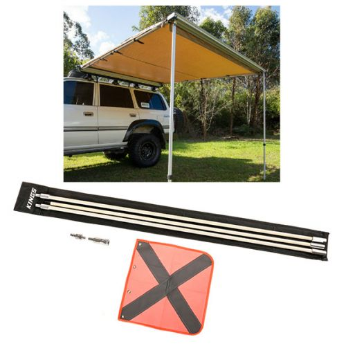 Adventure Kings Awning 2.5x2.5m + Adventure Kings 3m Sand Safety Flag