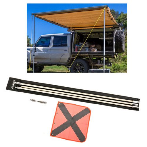 Adventure Kings Awning 2x3m + Adventure Kings 3m Sand Safety Flag