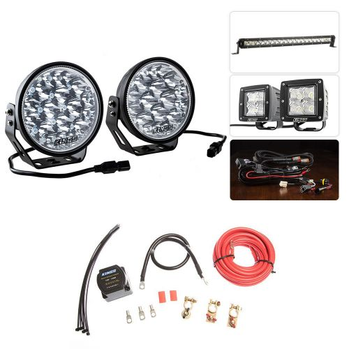 "Adventure Kings Domin8r Xtreme 7"" Ultimate LED Light Pack + Dual Battery System"