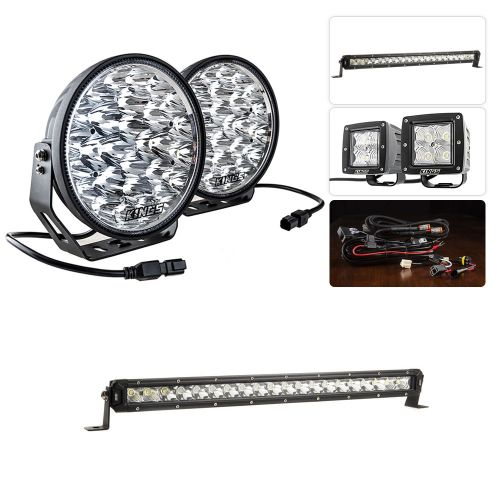 "Adventure Kings Domin8r Xtreme 9"" Ultimate LED Light Pack + Kings 20"" Slim Line LED Light Bar"