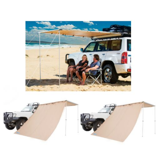 Adventure Kings Awning 2x2.5m + 2x Adventure Kings Awning Side Wall