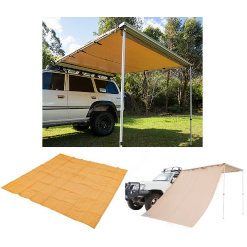Adventure Kings Awning 2.5x2.5m + Mesh Flooring 3m x 3m + Awning Side Wall