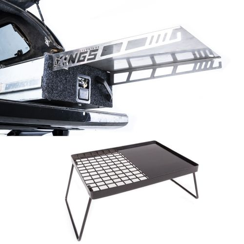 Adventure Kings Drawer Table suitable for 900mm & 1300mm Titan Drawers + Kings Essential BBQ Plate
