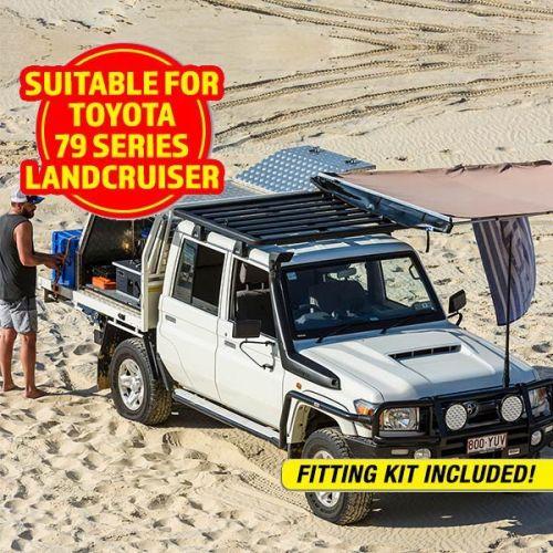 Adventure Kings Aluminium Platform Roof Rack Suitable for Toyota Landcruiser 79 Series Dual-Cab 2012+