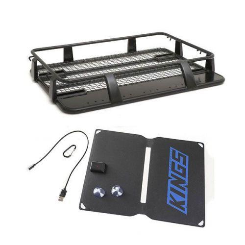 Steel Single Cab Roof Rack + Adventure Kings 10W Portable Solar Kit