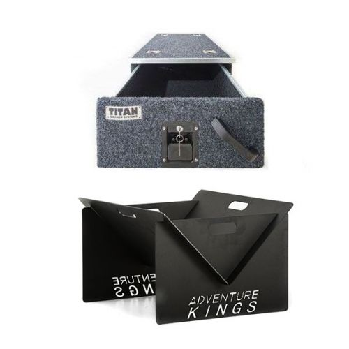 Titan Single Drawer 900mm + Kings Portable Steel Fire Pit