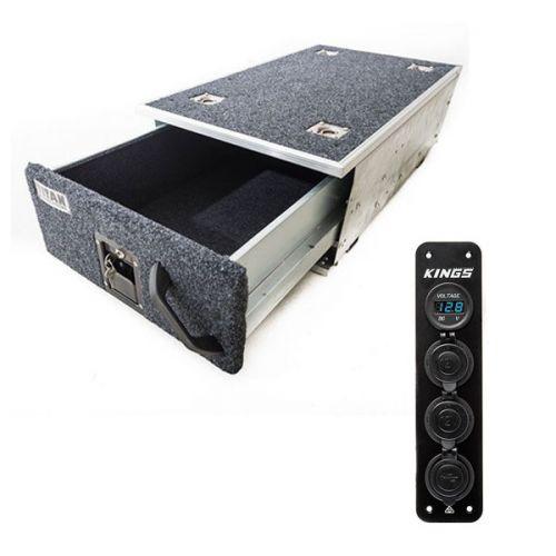 Titan Single Drawer 900mm + 12V Accessory Panel