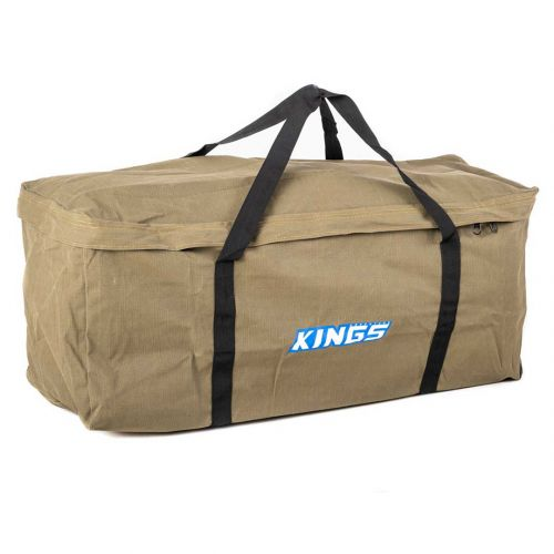 Kings Deluxe Single Swag Premium Canvas Bag | 400GSM Polycotton Ripstop Canvas | Heavy-Duty Zippers, Buckles & Handles