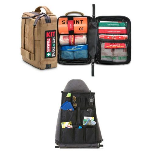 Survival Snake Bite First-Aid Kit + Car Seat Organiser