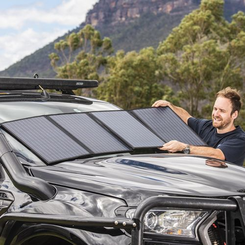 Adventure Kings 120W Solar Blanket with MPPT Regulator | Up to 9.6 Amps Output | Incl 4.4m Ext Cable, Alligator Clips & Bag