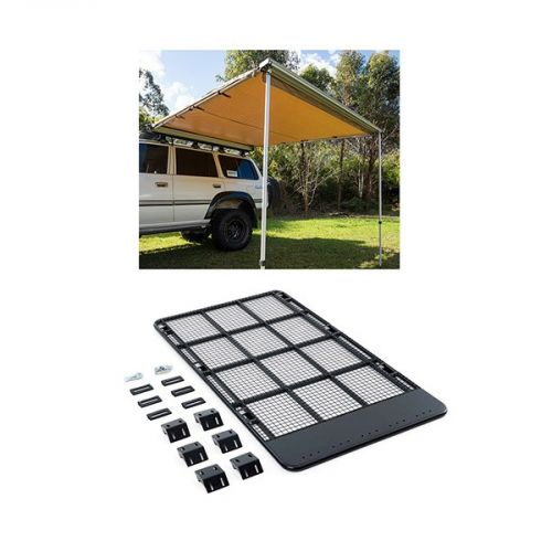 Steel Flat Rack suitable for 150 Series Prado + Adventure Kings Awning 2.5x2.5m