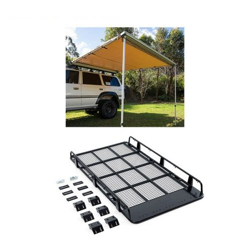 Steel Tradesman Roof Racks + Adventure Kings Awning 2.5x2.5m