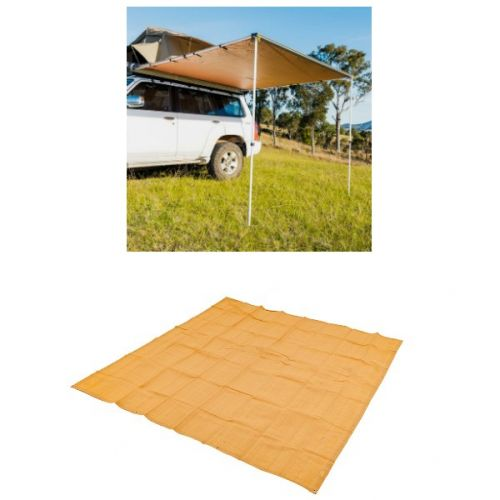 2.5 x 2.5m 2 in 1 Awning + Strip Light  + Adventure Kings Mesh Flooring 3m x 3m