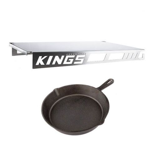 Drawer Table suitable for 900mm & 1300mm Titan Drawers + Adventure Kings Skillet Pan