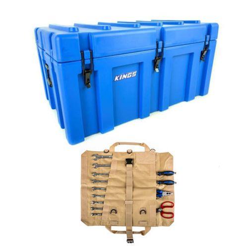 Adventure Kings 156L Storage Box + Premium Tool Roll