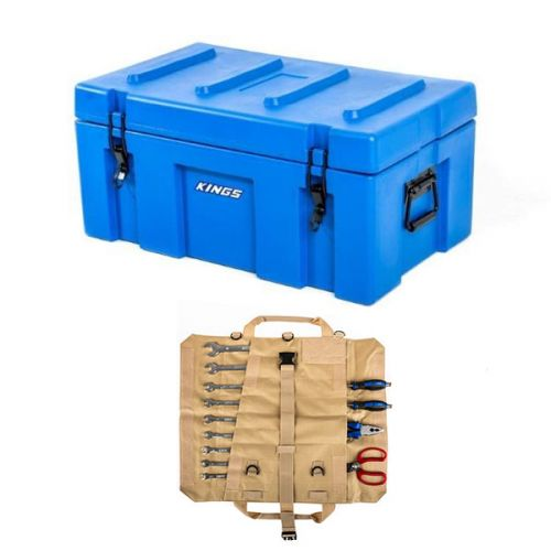 Adventure Kings 78L Tough Tool Box + Premium Tool Roll