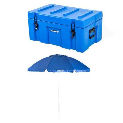 Adventure Kings 78L Tough Tool Box + Beach Umbrella