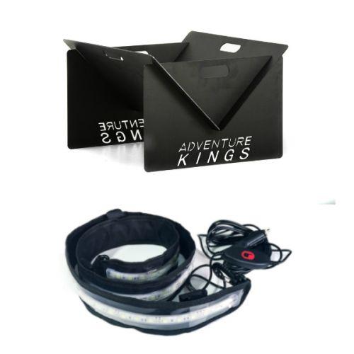 Kings Portable Steel Fire Pit + Illuminator MAX LED Strip Light