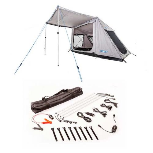 Adventure Kings Swift 5-person Tent + Illuminator 4 Bar Camp Light Kit