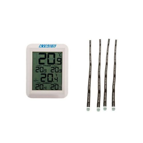 Adventure Kings Wireless Fridge Thermometer + Adventure Kings Fridge Tie Down Straps (4 pack)