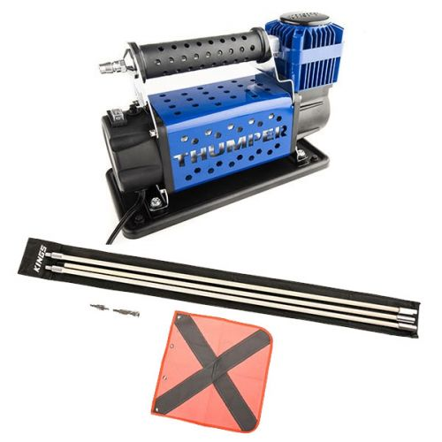 Thumper Air Compressor MkIII + Adventure Kings 3m Sand Safety Flag