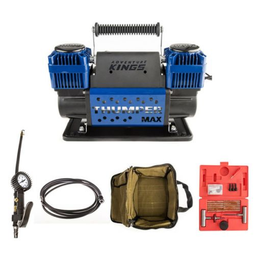 Thumper Max Dual Air Compressor + Kings 3in1 Ultimate Air Tool + Thumper Air Hose Extension 4m + Canvas Thumper Bag + Hercules Tyre Repair Kit