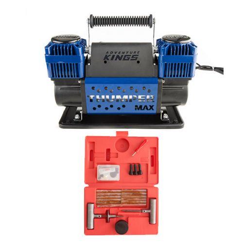 Thumper Max Dual Air Compressor + Hercules Tyre Repair Kit