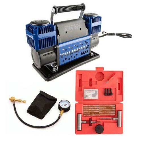 Thumper Max Dual Air Compressor + Kwiky Tyre Deflator + Tyre Repair Kit